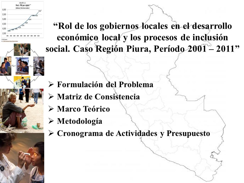 Rol de los gobiernos locales en el desarrollo económico local y los procesos de inclusión social. Caso Región Piura, Período 2001 – 2011