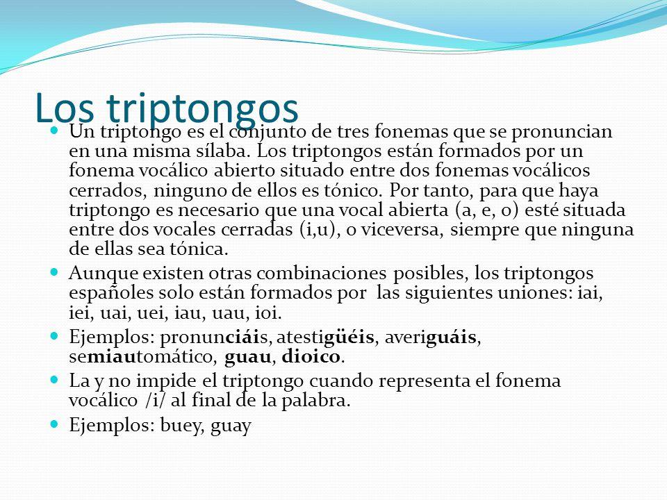 Los triptongos
