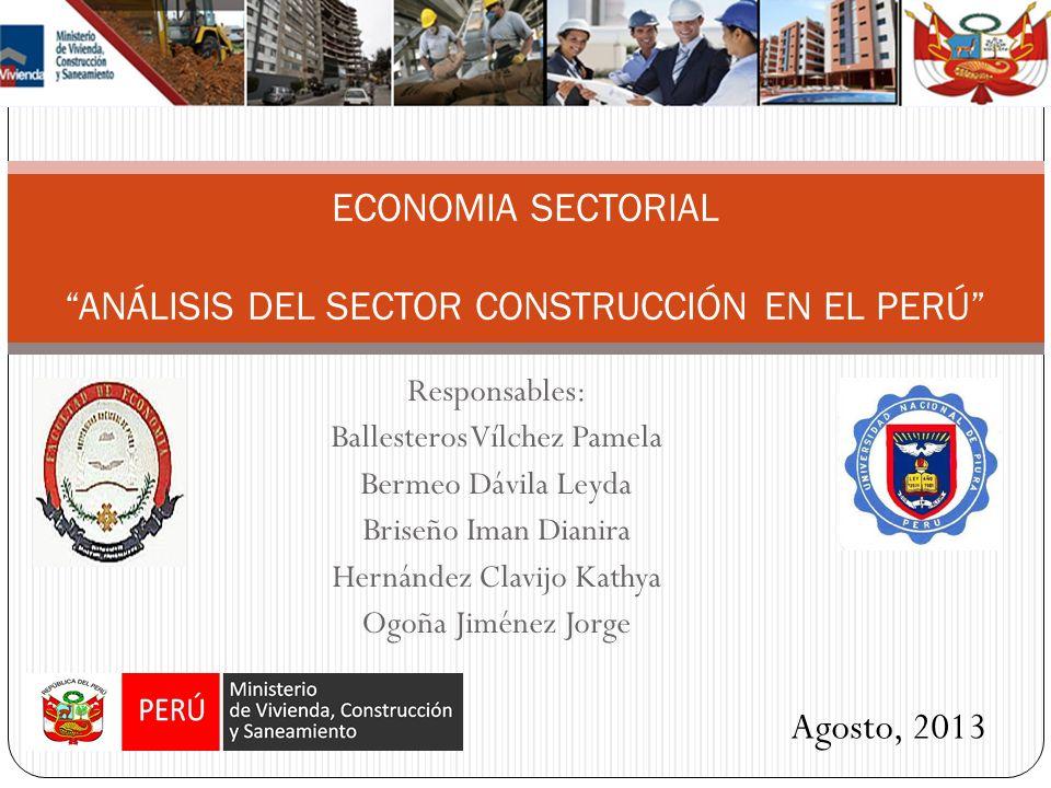 ECONOMIA SECTORIAL ANÁLISIS DEL SECTOR CONSTRUCCIÓN EN EL PERÚ