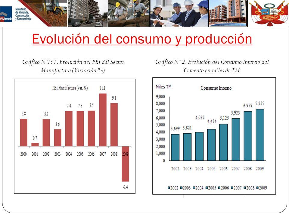 Evolución del consumo y producción
