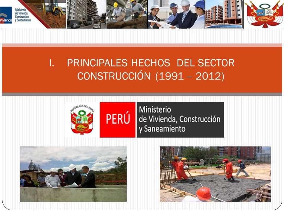 PRINCIPALES HECHOS DEL SECTOR CONSTRUCCIÓN (1991 – 2012)