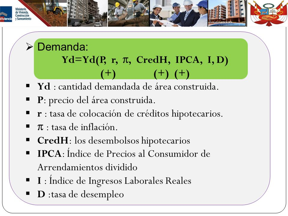 Yd=Yd(P, r, π, CredH, IPCA, I, D)