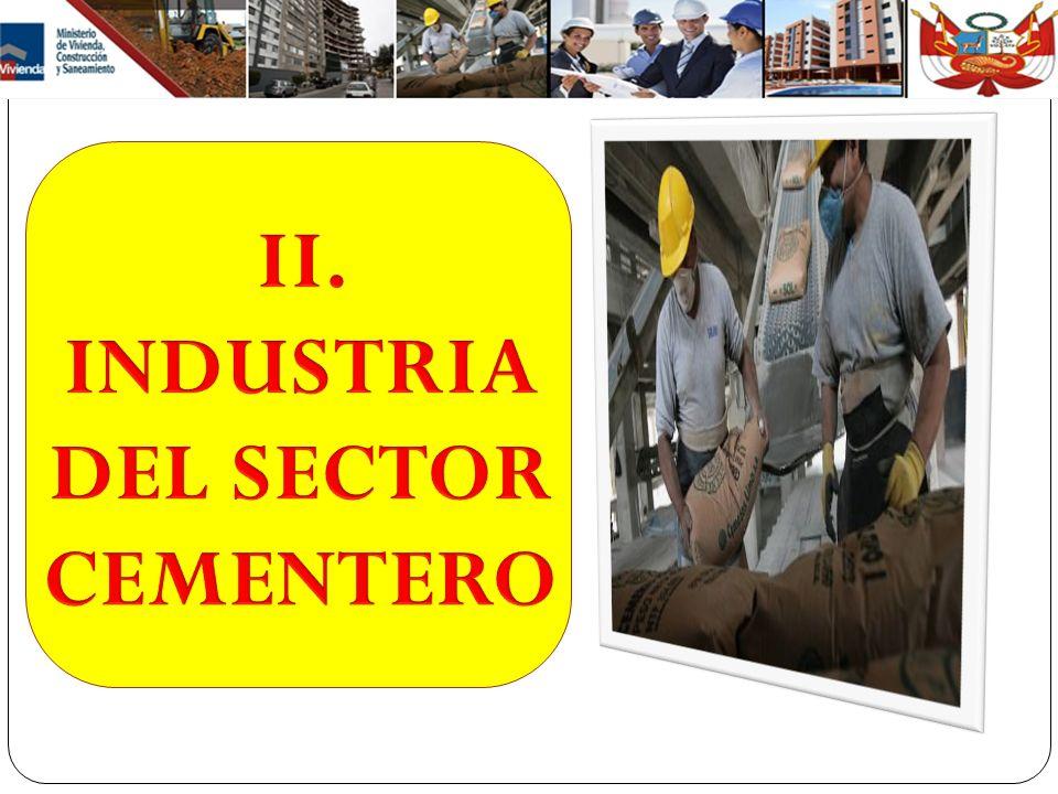 II. INDUSTRIA DEL SECTOR CEMENTERO