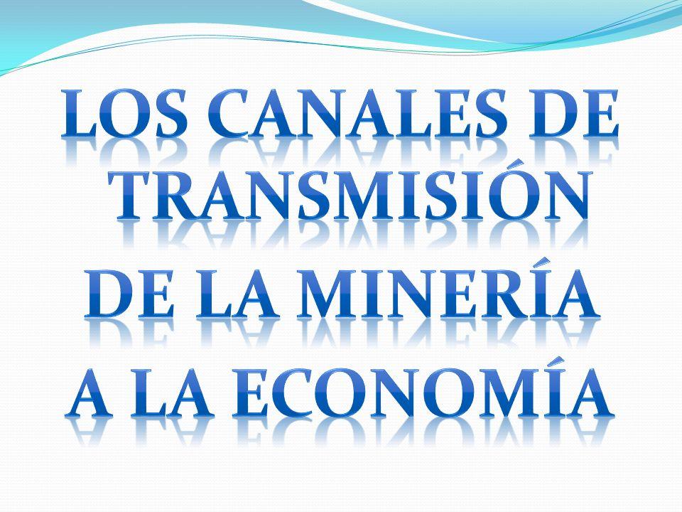 LOS CANALES DE TRANSMISIÓN DE LA MINERÍA A LA ECONOMÍA