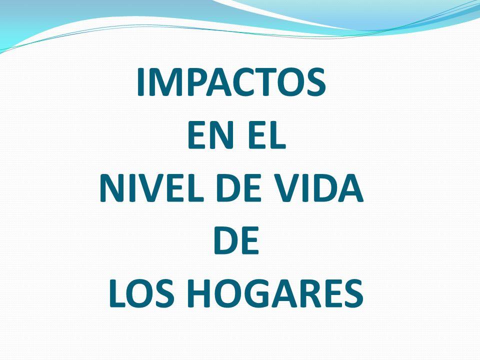 IMPACTOS EN EL NIVEL DE VIDA DE LOS HOGARES