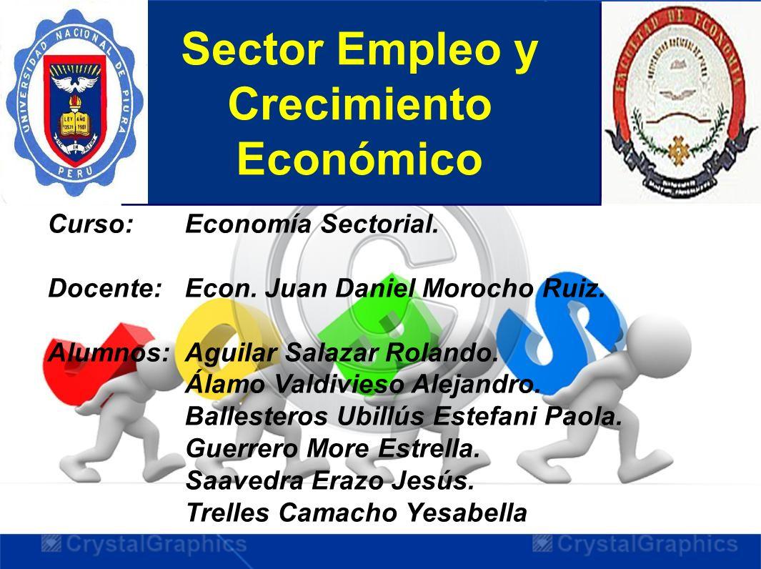 Sector Empleo y Crecimiento Económico