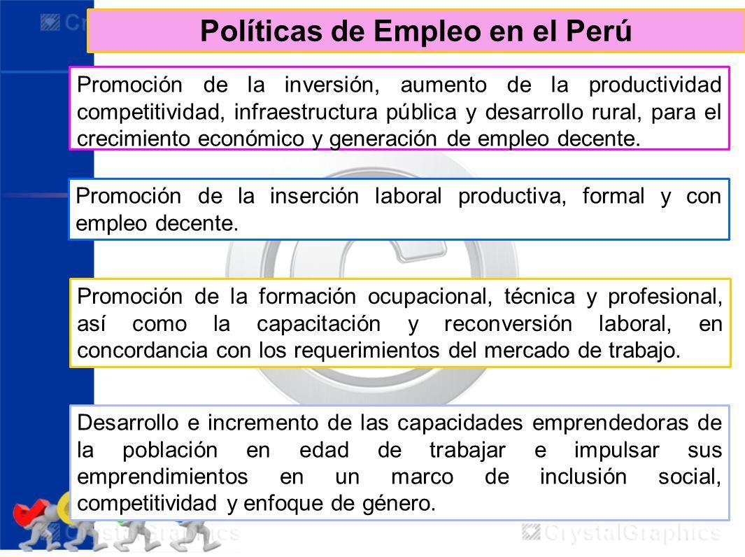Políticas de Empleo en el Perú