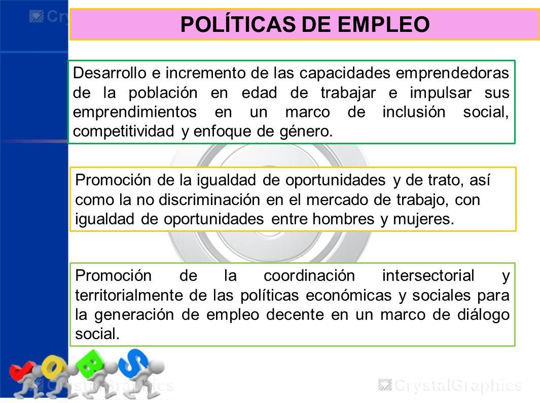 POLÍTICAS DE EMPLEO