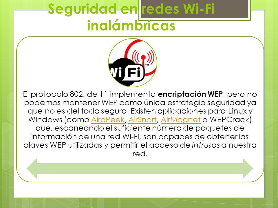 Seguridad en redes Wi-Fi inalámbricas
