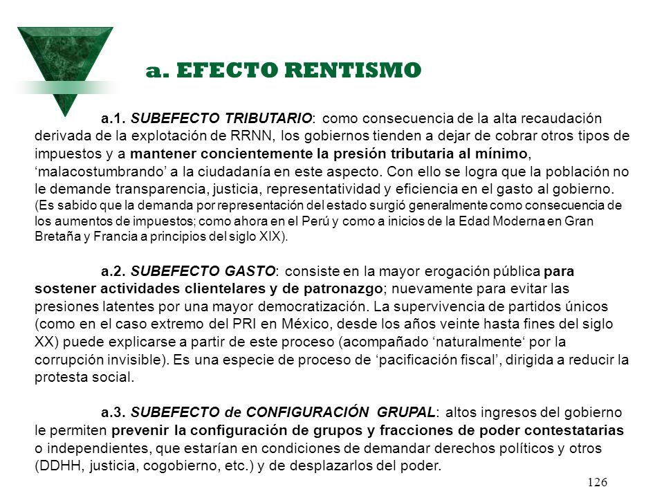 a. EFECTO RENTISMO