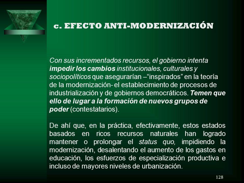 c. EFECTO ANTI-MODERNIZACIÓN