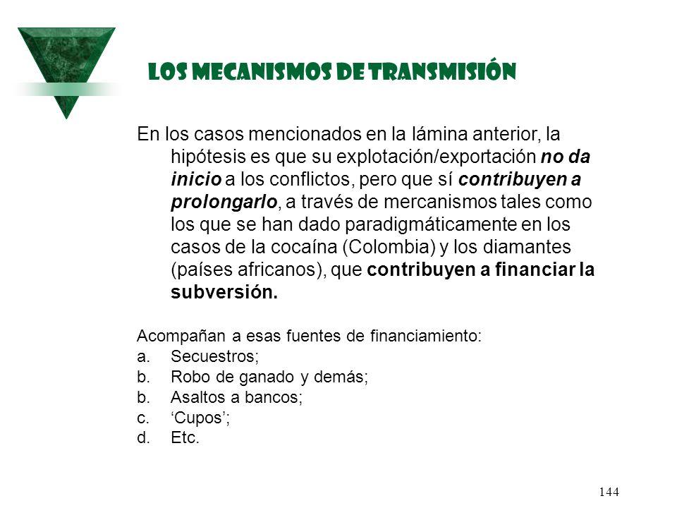Los mecanismos de transmisión