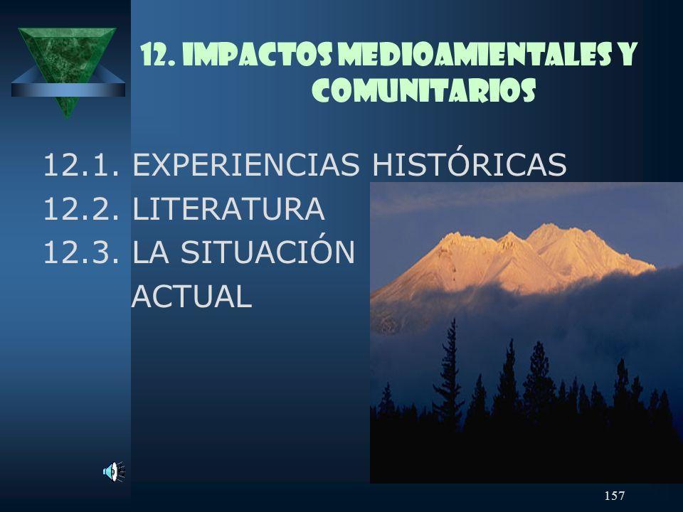 12. IMPACTOS MEDIOAMIENTALES Y COMUNITARIOS