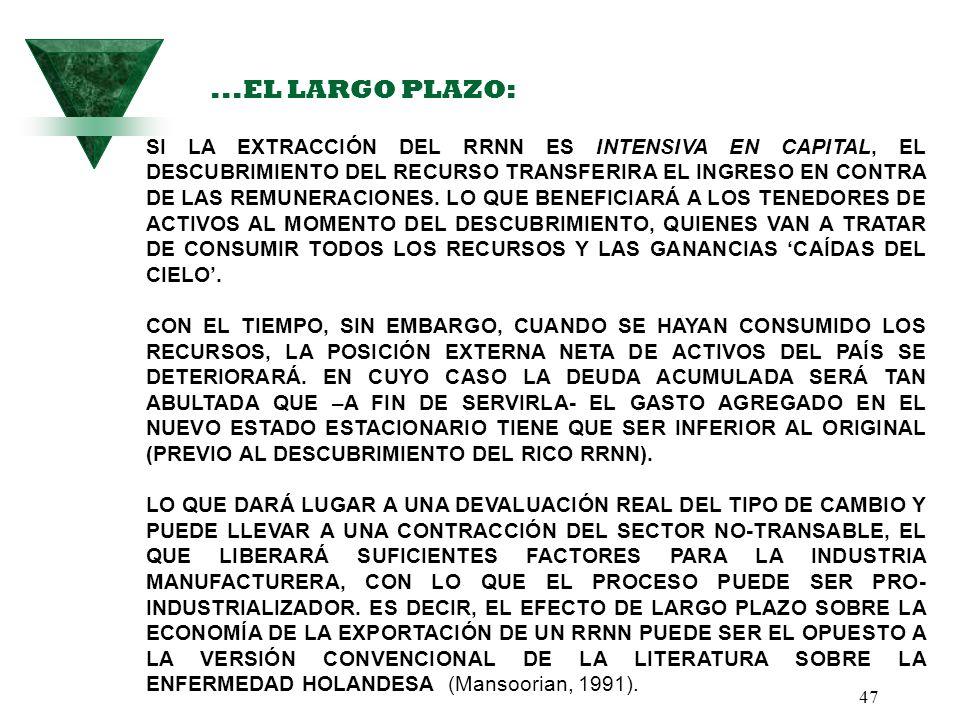 ...EL LARGO PLAZO: