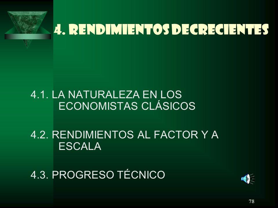 4. RENDIMIENTOS DECRECIENTES