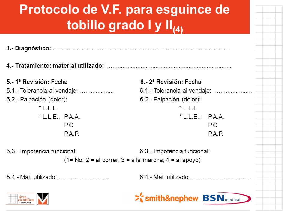 Protocolo de V.F. para esguince de tobillo grado I y II(4)
