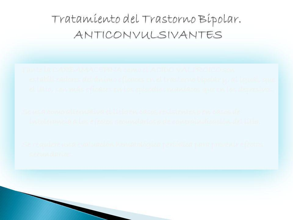 Tratamiento del Trastorno Bipolar. ANTICONVULSIVANTES