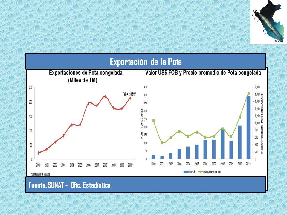 Exportación de la Pota Fuente: SUNAT - Ofic. Estadística
