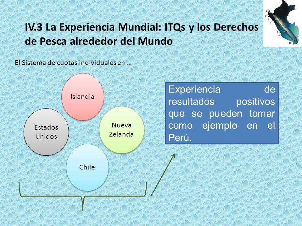 IV.3 La Experiencia Mundial: ITQs y los Derechos