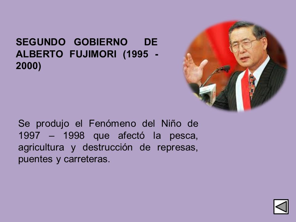SEGUNDO GOBIERNO DE ALBERTO FUJIMORI (1995 - 2000)