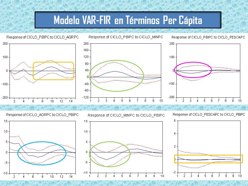 Modelo VAR-FIR en Términos Per Cápita