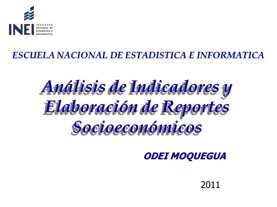 Análisis de Indicadores y Elaboración de Reportes Socioeconómicos