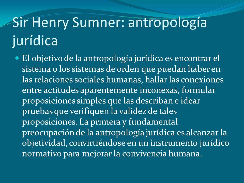 Sir Henry Sumner: antropología jurídica