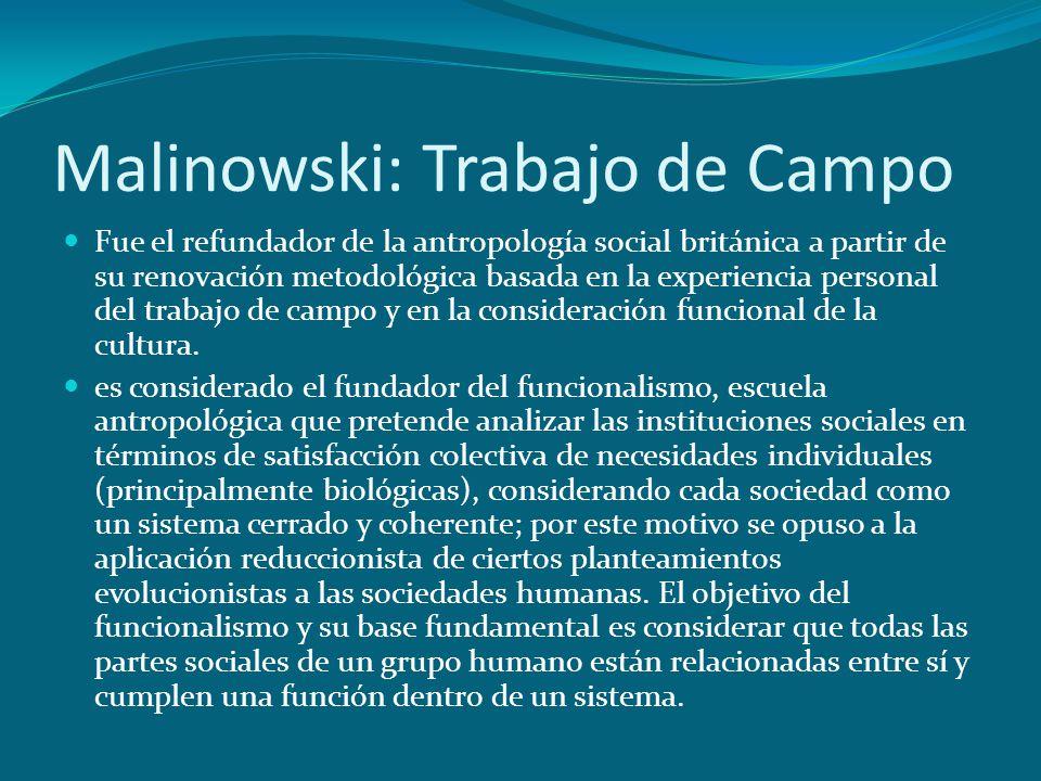 Malinowski: Trabajo de Campo