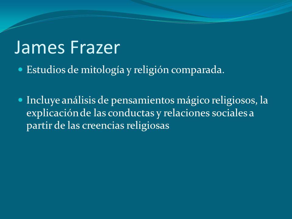 James Frazer Estudios de mitología y religión comparada.