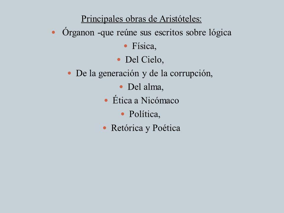 Principales obras de Aristóteles: