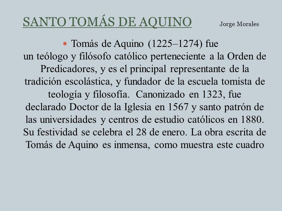 SANTO TOMÁS DE AQUINO Jorge Morales