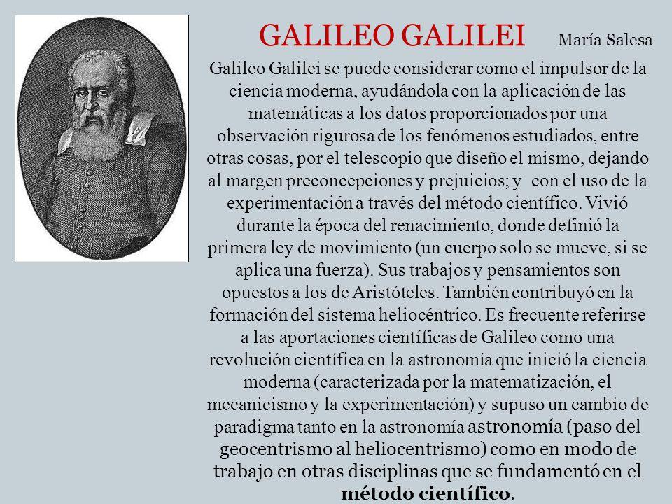 GALILEO GALILEI María Salesa.