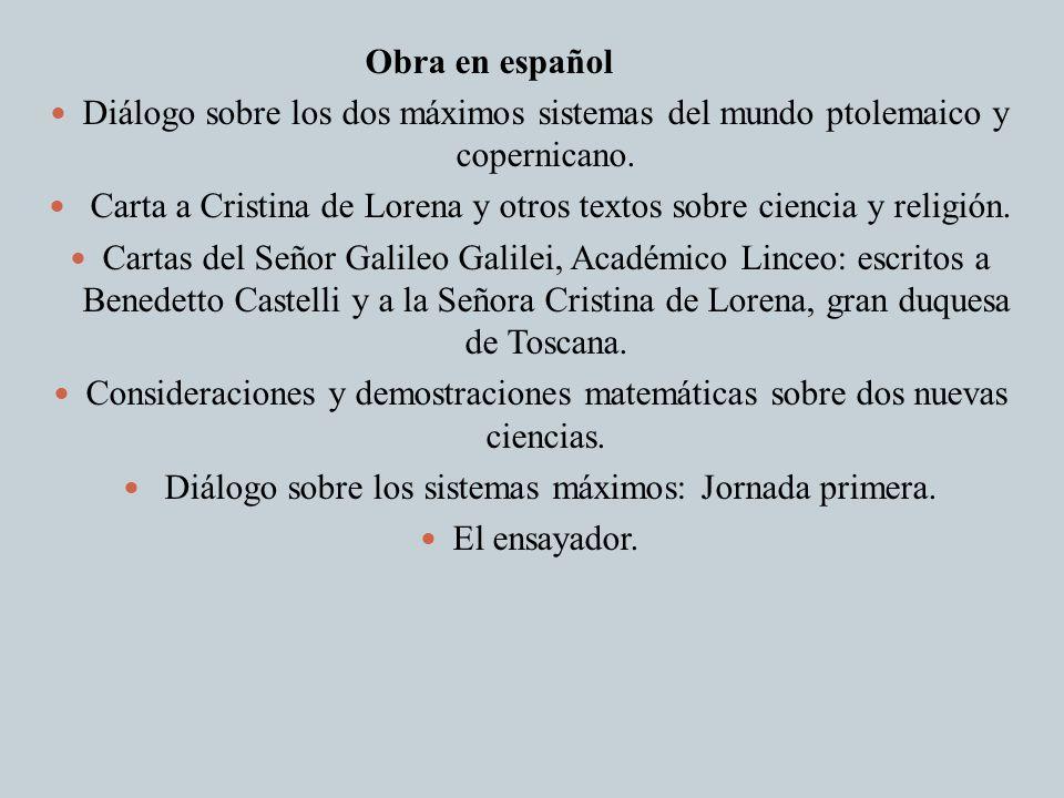 Carta a Cristina de Lorena y otros textos sobre ciencia y religión.