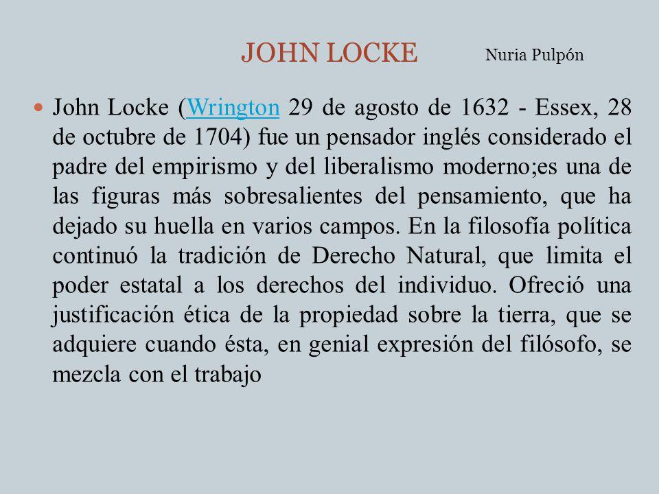 JOHN LOCKE Nuria Pulpón.