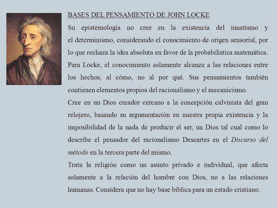 BASES DEL PENSAMIENTO DE JOHN LOCKE