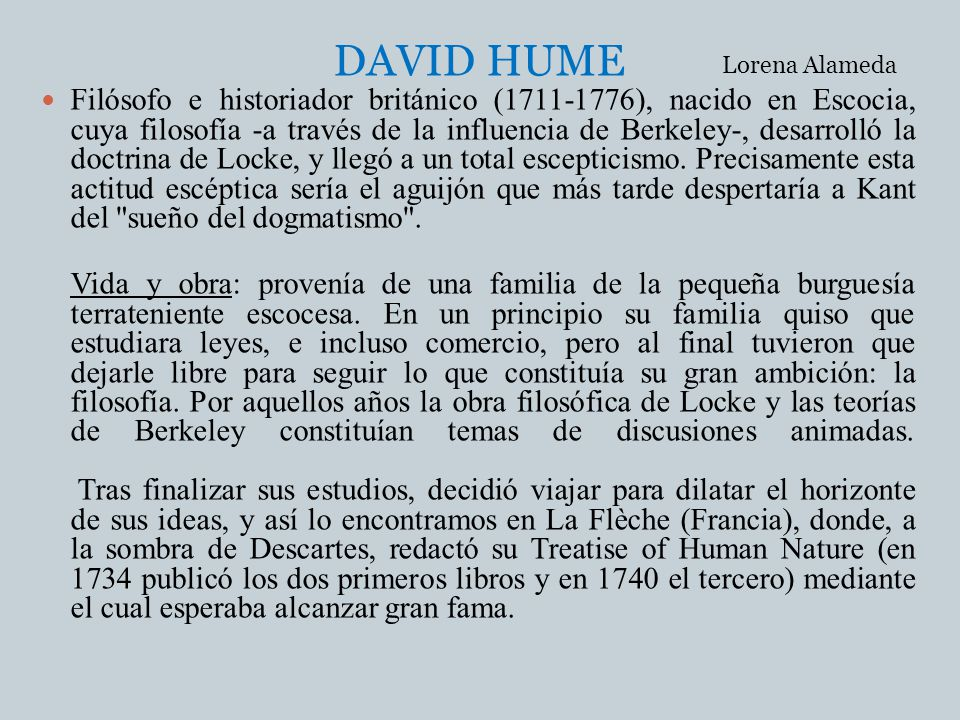 DAVID HUME Lorena Alameda.