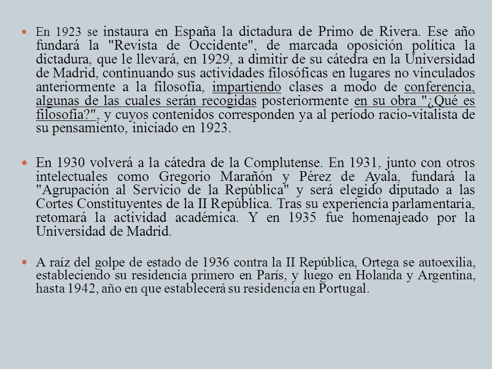 En 1923 se instaura en España la dictadura de Primo de Rivera