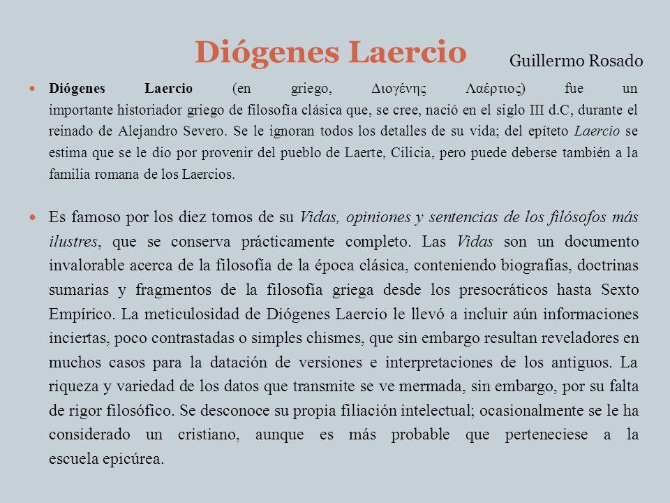 Diógenes Laercio Guillermo Rosado