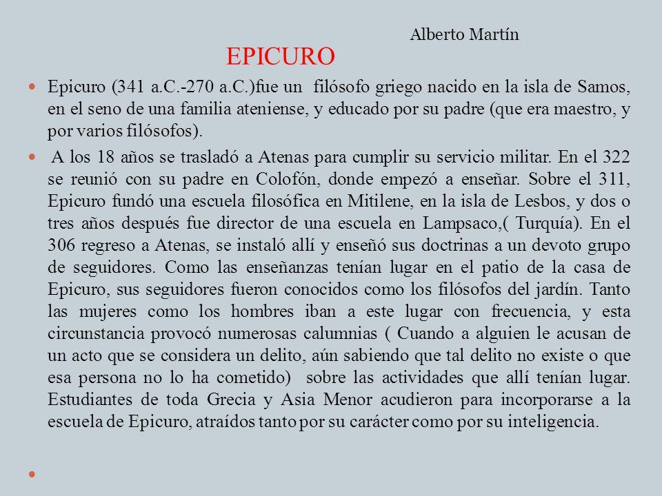 Alberto Martín EPICURO.