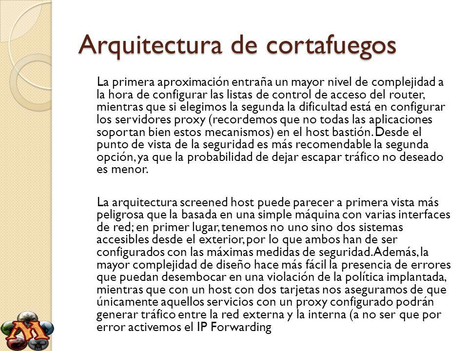 Arquitectura de cortafuegos