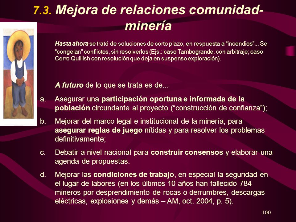 7.3. Mejora de relaciones comunidad-minería