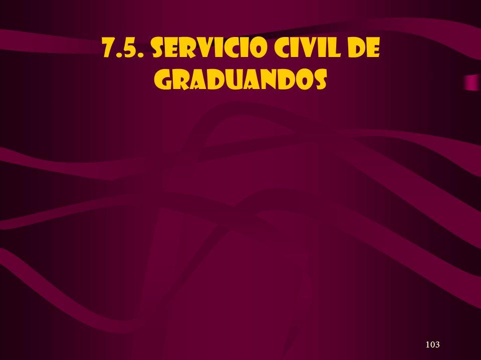 7.5. SERVICIO CIVIL DE GRADUANDOS