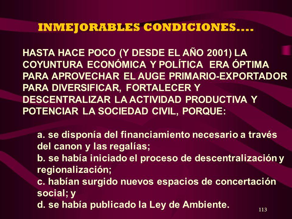 INMEJORABLES CONDICIONES....