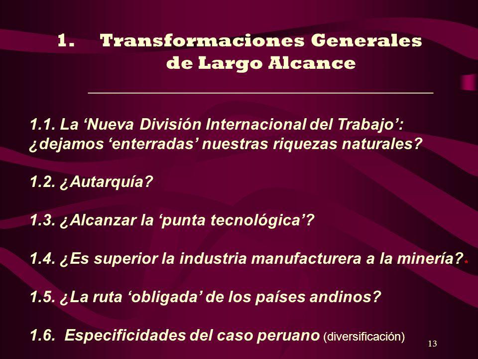 Transformaciones Generales de Largo Alcance _____________________________________
