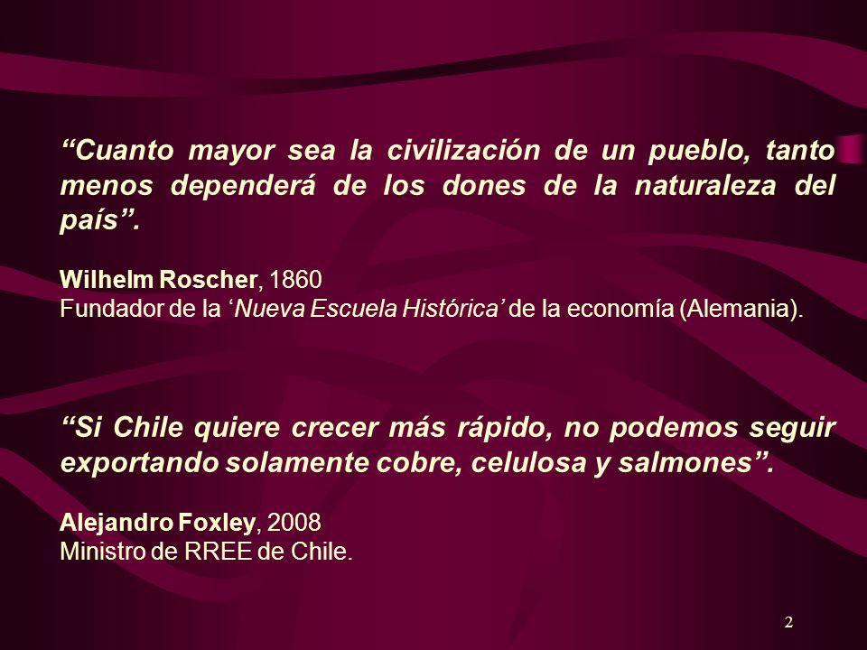 Cuanto mayor sea la civilización de un pueblo, tanto menos dependerá de los dones de la naturaleza del país .