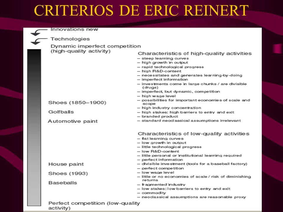 CRITERIOS DE ERIC REINERT