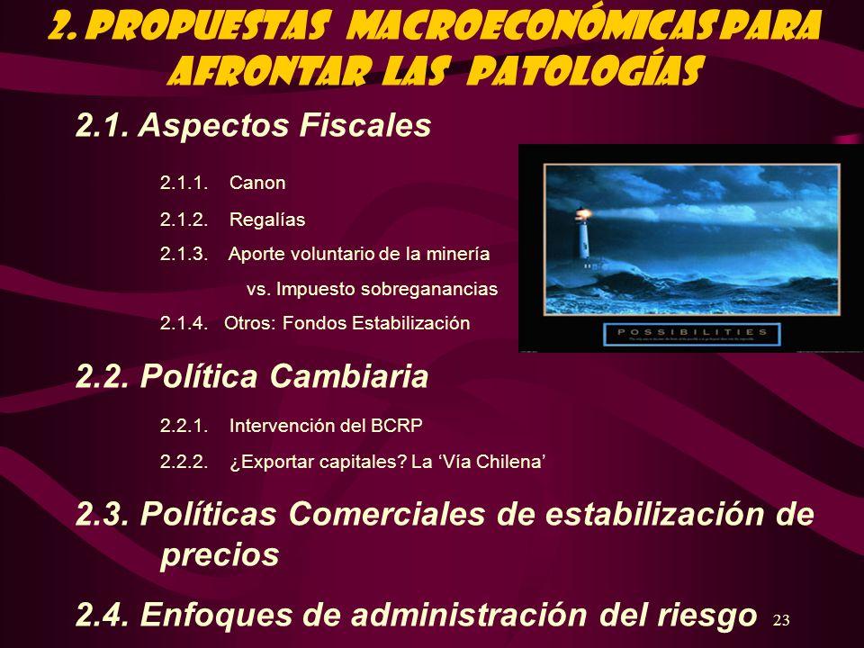 2. PROPUESTAS Macroeconómicas PARA AFRONTAR LAS PATOLOGÍAS