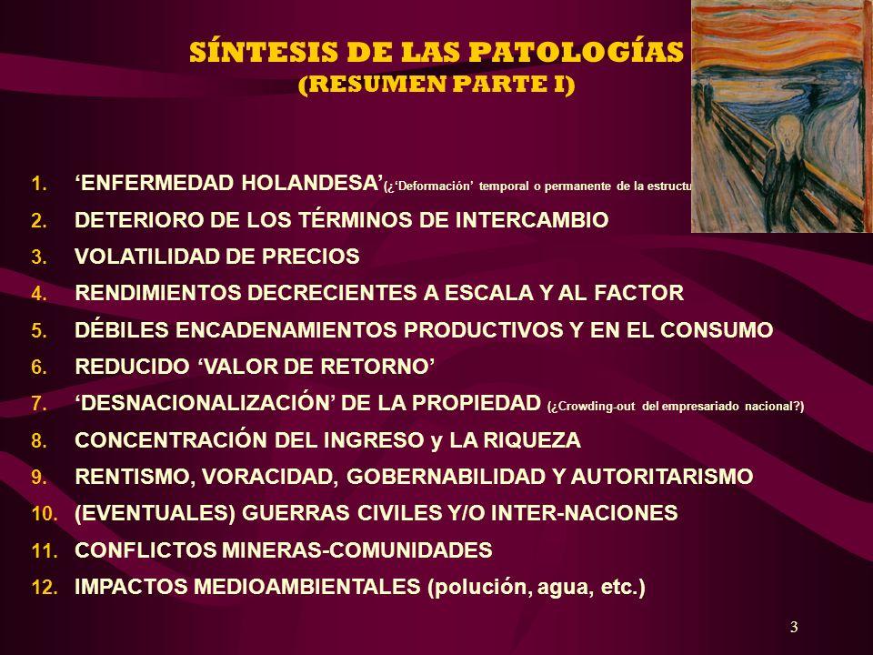 SÍNTESIS DE LAS PATOLOGÍAS (RESUMEN PARTE I)