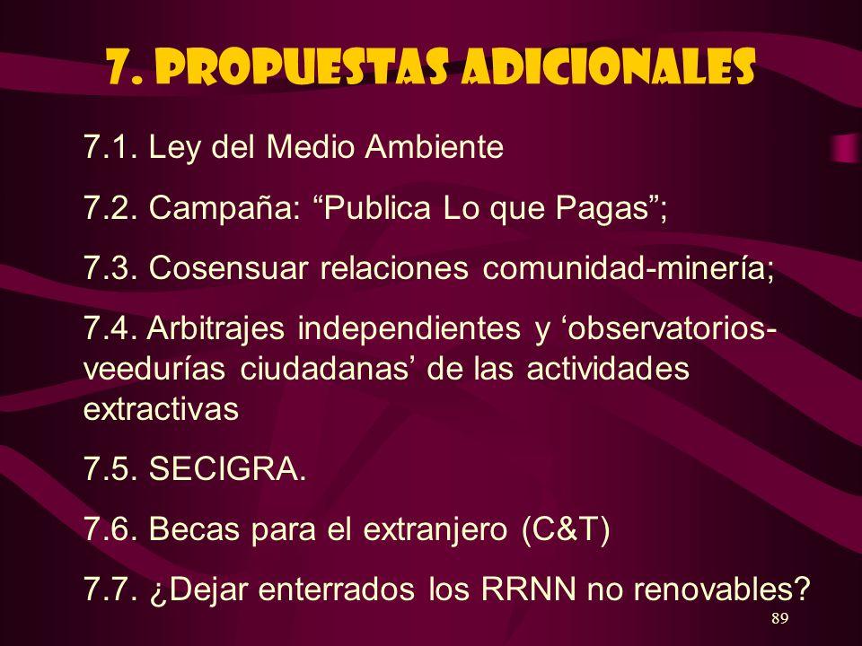 7. PROPUESTAS ADICIONALES