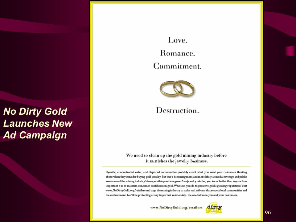 No Dirty Gold Launches New Ad Campaign